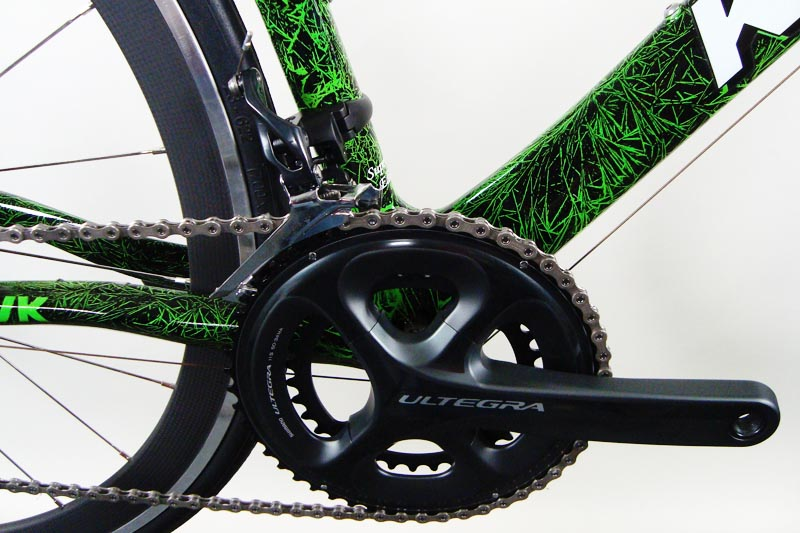 Electric Green Crystal Paint Job With Shimano Ultegra