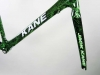 772 Jack Kane Bike electric green crystal _ fork down tube