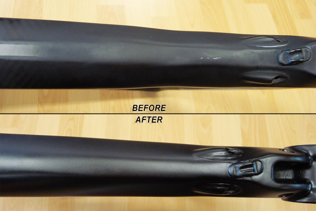 Example Of Bad Body Work On A Carbon Bicycle Repair